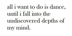 all i want to do