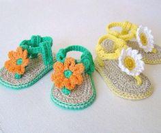 sandalias para bebe a crochet