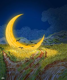 Alireza Karimi Moghaddam, 1975   Van Gogh's life story in cartoon illustrations