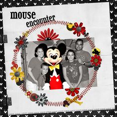Mickey, Disney scrapbook layout