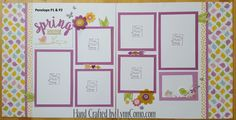 Colorful and Springy ... with PENELOPE Kit of the Month. Creates 8 pages and cards. Pages 1 & 2 shown here ...