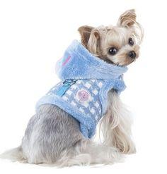 Pinkaholic-Cosmo-Pinka-Dog-Puppy-Harness-Blue-Medium-Hood-Fur-Lined-BNWT