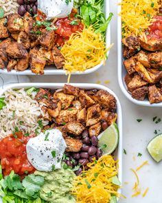 {NEW} Copycat Chipotle Chicken Burrito Bowls CFC Style 🍅🌱🥑 DRoooLLLLL 🤤🤤🤤 Looks like your Dinner plans just changed!🙌 Chipotle Chicken Burrito Bowls are Clean Eating Recipes, Healthy Eating, Healthy Recipes, Healthy Food, Eating Clean, Lunch Recipes, Healthy Meals, Chicken Burrito Bowl, Burrito Bowls