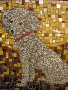 11x14, glass on glass mosaic  Sophie by ShardArt, via Flickr