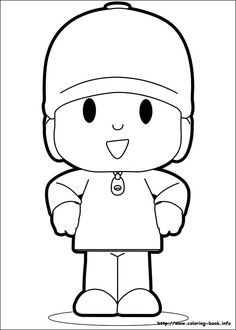 Pocoyo Coloring Pages, from Cartoon Coloring Pages category. Find out more coloring sheets here. Cartoon Coloring Pages, Coloring Pages For Boys, Printable Coloring Pages, Boy Coloring, Coloring Sheets, Coloring Books, Online Coloring, 2nd Birthday Parties, Hello Kitty