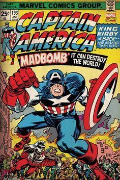 Captain America - Marvel Retro Madbomb - Official Poster. Official Merchandise. Size: 61cm x 91.5cm. FREE SHIPPING