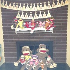 Parker's 1st Birthday!!!! Sock Monkeys and Party Hats!!!