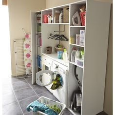 Rangement et dressing leroy merlin trignac on pinterest - Amenagement buanderie photos plans ...