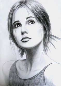 Retrato. Lápiz de retrato. Chica del retrato. por MelnikOlgaArt                                                                                                                                                                                 Más