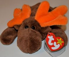 780479c1990 Ty Beanie Babies Chocolate Moose 5th Gen Swing 6th Tush Retired April 27  1993 for sale online