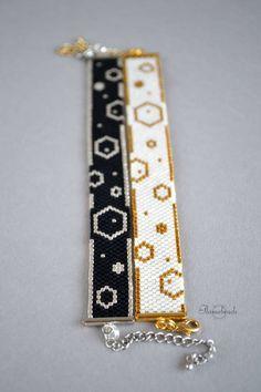 Flat bracelets Bubbles silver gold black white