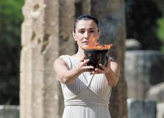 σғ ( in ancient Rome) Ancient Rome, Ancient Greece, Olympia Greece, Greek Traditional Dress, Olympic Flame, Actor Studio, Greek Culture, Ancient Beauty, Greek Mythology