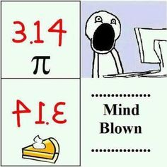 Math humor. Happy Pi Day (3/14)!