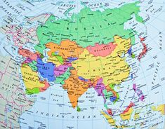 Map Of All Of Asia.12 Best Asia Map Images In 2018 Asia Map Map Of Asia School