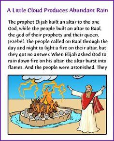 A Little Cloud Produces Abundant Rain (Elijah Story) - Kids Korner - BibleWise