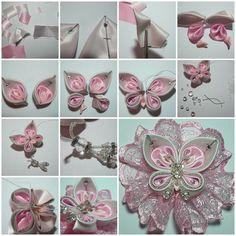 DIY Beautiful Satin Ribbon Butterfly https://www.facebook.com/icreativeideas