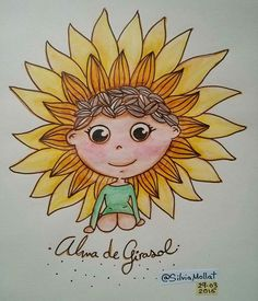 Alma de girasol... #undibujoparacadadía #65 #dailydraw #girasol #sunflower #sun #happiness #alma #dream #illustration #design #art #scketchbook #doodle #watercolor #drawing #inktober