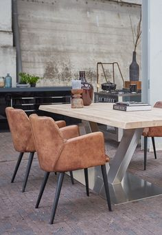 Home Design Interior and Outdoor Decoration Modern Dining Chairs, Dining Table Chairs, Upholstered Dining Chairs, Dining Room Furniture, Restaurant Furniture, Restaurant Interior Design, Small Living Rooms, Home Living Room, Home Renovation