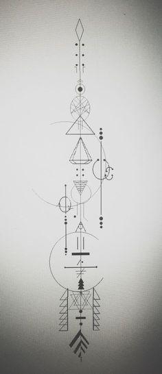 I love drawing theses - Tattoo ideen - tattoos Bild Tattoos, Body Art Tattoos, Sleeve Tattoos, Trendy Tattoos, Black Tattoos, Tattoos For Guys, Geometric Symbols, Geometric Tattoo Design, Geometric Shapes