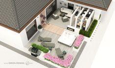 Projekt tarasu z jacuzzi - projekt indywidualny Green Design Pool Days, Jacuzzi, Home Fashion, Landscape Architecture, Spa, Mansions, House Styles, Design, Home Decor