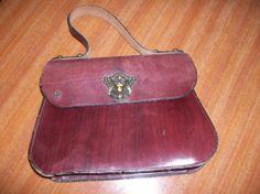 Vintage Etienne Aigner Leather Handbag Message by HeartsMaddness, $28.00