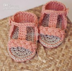 Wholesale 15%off!Baby Booties Crochet PATTERN - Braided Gladiator Sandals! 15pairs/30pcs, Free shipping, $2.14/Piece | DHgate Mobile