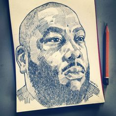 Killer mike pencil drawing by Tony Coppin