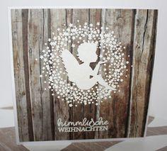 Weihnachtskarte mit Stempeln von #creativedepot und Stanzengel von Alexandra Renke