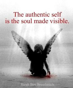 Finding my wings - Authentic Self (Sarah ban Breathnach).