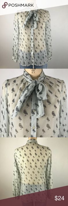 Beth Bowley pussy bow sheer owl print blouse Excellent used condition. Adorable owl print. Semi-sheer material. Beth Bowley Tops Blouses