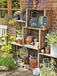 Kistjes voor een tuinkast