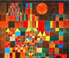 """First and second grade artists looked at the painting """"Castle and Sun"""" by Paul Klee (prounouced """"clay""""). Before learning the title of . Acrylic Painting Lessons, Oil Painting Abstract, Painting Art, Watercolor Painting, Kandinsky, Paul Klee Artwork, Pablo Picasso, Watercolor Artists, Indian Paintings"""