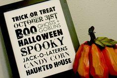 halloween subway sign