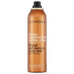 Skip the tanning salon, do-it-yourself at home, UV-free! SEPHORA COLLECTION Tinted Self-Tanning Body Mist #Prom #PromBeauty