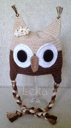 Leka Atelier: Touca Coruja Bege Claro