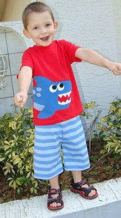Shark Boys Custom Tshirt by OhBananas on Etsy, $23.00