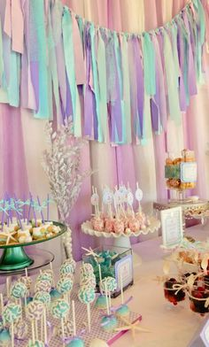 Whimsical mermaid party