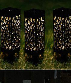Led Solar Light For Garden Decoration Lawn Lamp Outdoor Home Pathway Bulb Light Sensor Waterproof Solar Street Lamp Solar Lights Outdoor Solar Lamps, Solar Led Lights, Jar Lights, Outdoor Lighting, Solar Light Crafts, Diy Solar, Garden Cactus, Luminous Colours, Mason Jar Lighting
