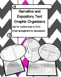 Narrative and Expository Text Graphic Organizers - Carol Redmond - TeachersPayTeachers.com