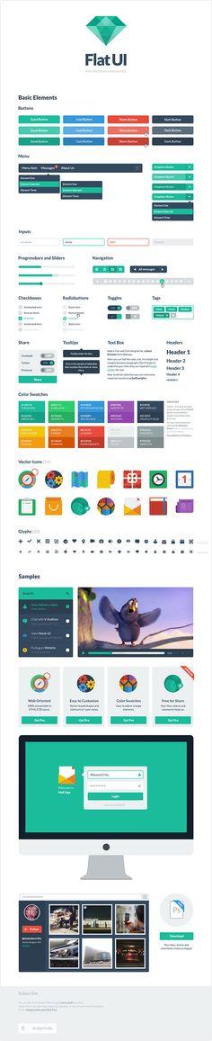 Flat UI, un kit d'interface «Bootstrap» gratuit et tendance.
