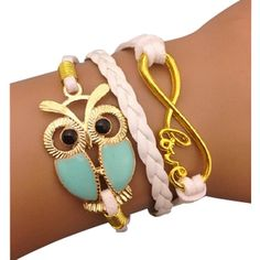White and Blue Love Arm Party Bracelet