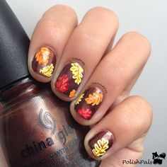 15 best autumn leaf nail art designs ideas trends stickers