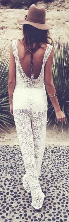 #summer #fashion / boho lace jumper