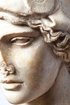 Detail of a marble Bust of Athena, c. 2nd century AD, courtesy Art Institute of Chicago (photo by Erika Dufour) _