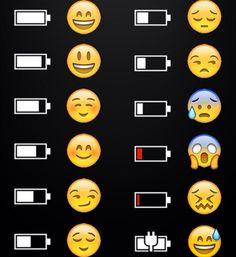 Emoji battery life funny meme humor joke