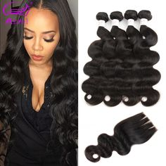7A Brazilian Virgin Hair With Closure 4 Bundles Brazilian Body Wave With Closure Unprocessed Human Hair With Closure ** Clicking on the VISIT button will lead you to find similar product
