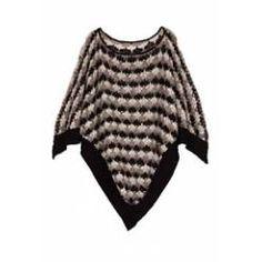 -Missoni Chunky Knit Poncho -