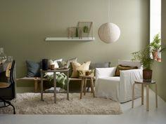 En av de behageligste grønntonene vi vet om; SENS 8302 Laurbær. En nydelig, dempet og gyllen grønntone som fyller rommet med deilig, vårfølelse! Fungerer...