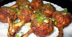 Imperial Inn - Chicken Lollipop (Non-veg) Chicken Starter Recipes, Yummy Chicken Recipes, Yum Yum Chicken, Yummy Recipes, Indian Food Recipes, Asian Recipes, Ethnic Recipes, Asian Foods, Pinoy Food