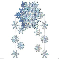 Dreamcasual - CHRISTMAS Winter or Frozen Themed Party Decorations SNOWFLAKE 3-D HANGING MOBILE Dreamcasual http://www.amazon.com/dp/B0185NK4U4/ref=cm_sw_r_pi_dp_hC5Vwb1327VBW